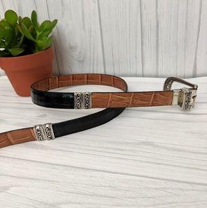 Brighton Accessories - Brighton Reversible Brown and Black Belt Size XL